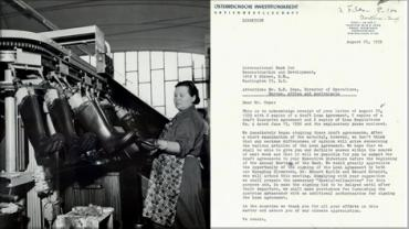Rubber boot production (1716009; Credit: The World Bank); correspondence from Oesterreichische Investitionskredit, A.G. to World Bank (1516865).