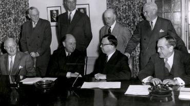 Loan agreement signing