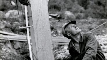 Worker on the Tokke power project