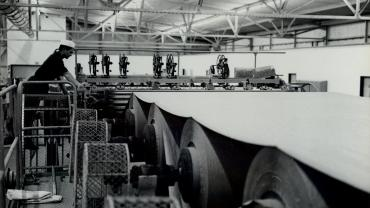 Rollers in paper mill