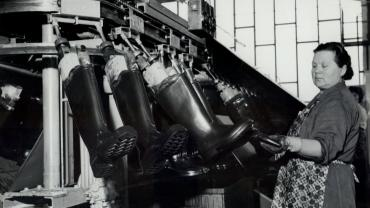 Rubber boot production