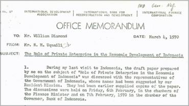 Detail of memorandum regarding report author Mr. N. M. Uquaili's visit to Indonesia (1786883).