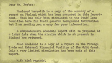 Correspondence from Leonard B. Rist to Grant Forbes