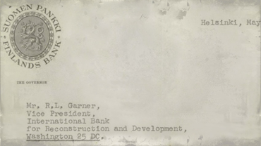 Correspondence from S. S. Tuomioja to R. L. Garner