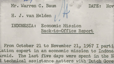 Back-to-office report by economic mission team member
