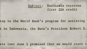 Press release -- Indonesia receives first IDA credit
