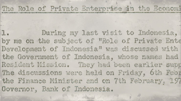 Memorandum regarding Mr. N. M. Uquaili's visit to Indonesia